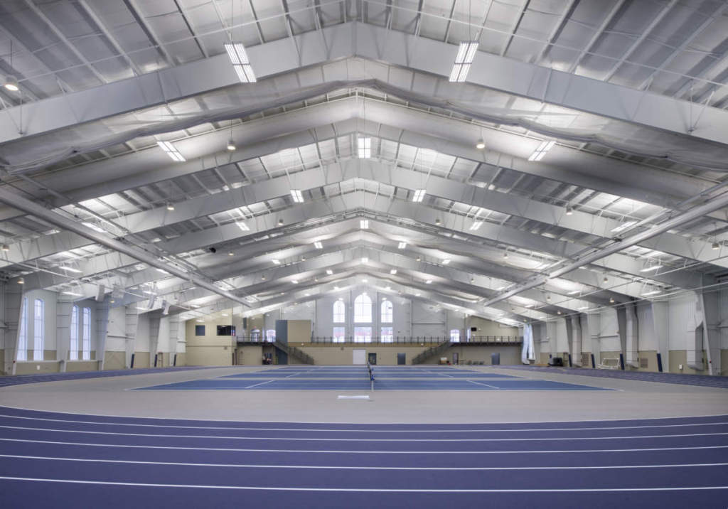 Hillsdale College Track Tennis Interior Full Court Level