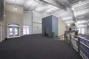 Hillsdale College Track Tennis Interior Raised Veiwing Entrance