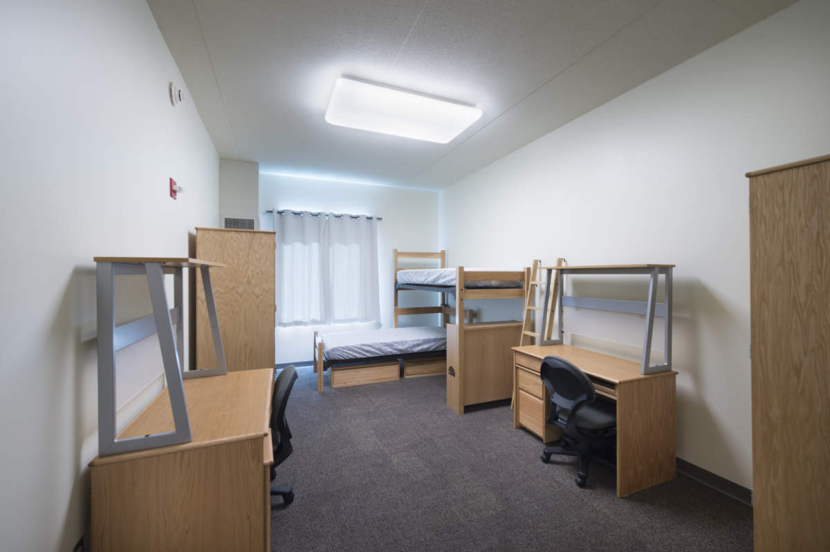 Iu Spruce Hall Dorm Room With Furniture Weigand Construction