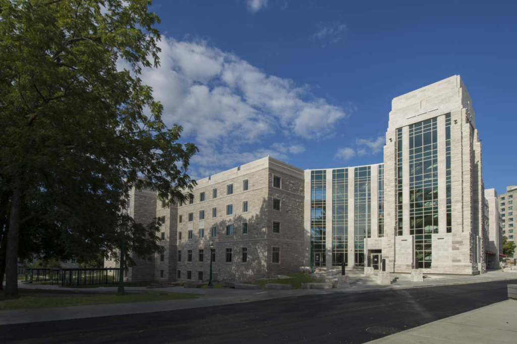 IU Spruce Hall Exterior Main Entrance Full Bulding