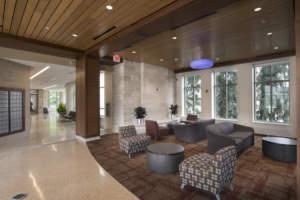 IU Spruce Hall Interior Main Lobby Reception Seats Lounge Area