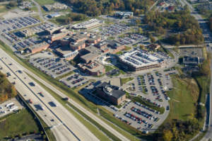 lutheran hospital expansion aerial campus