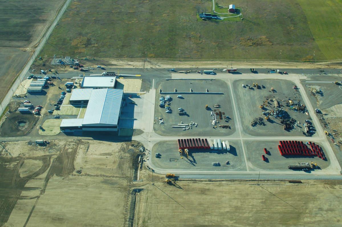 MetalX Exterior Aerial Campus Jobsite