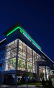 Parkview Cancer Institute exterior night zoom