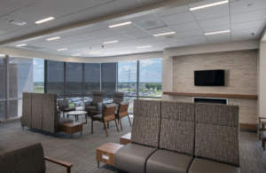 Parkview Cancer Institute waiting reception area