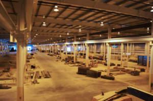Scot Industries Interior - warehouse construction