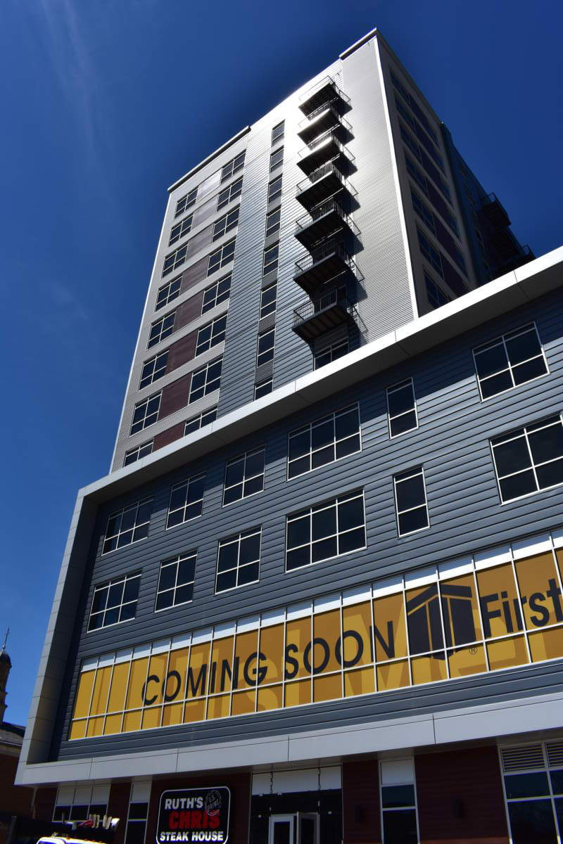 Skyline Tower Exterior - commercial construction contractor