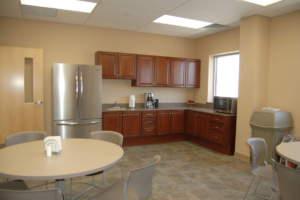 Triad Metals Interior Break Room Kitchen