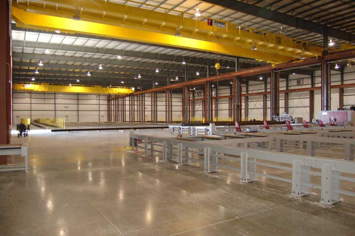 Triad Metals Interior - warehouse construction